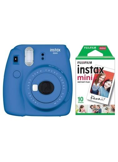 Fujifilm Instax Mini 9 Mavi Fotoğraf Makinesi & 10'lu Film Mavi